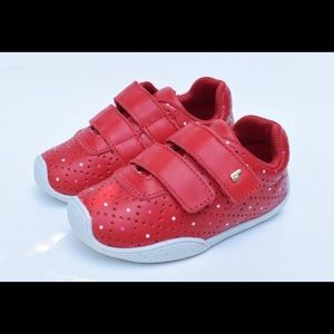 Leather toddler sneakers for girls